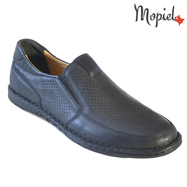 Pantofi barbati, din piele naturala 1311104 Negru Amza incaltaminte barbati
