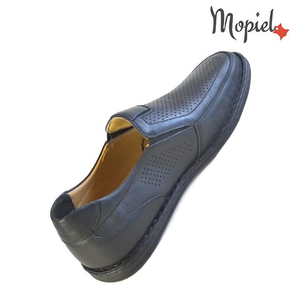 Pantofi barbati, din piele naturala 1311104 Negru Amza incaltaminte ieftina