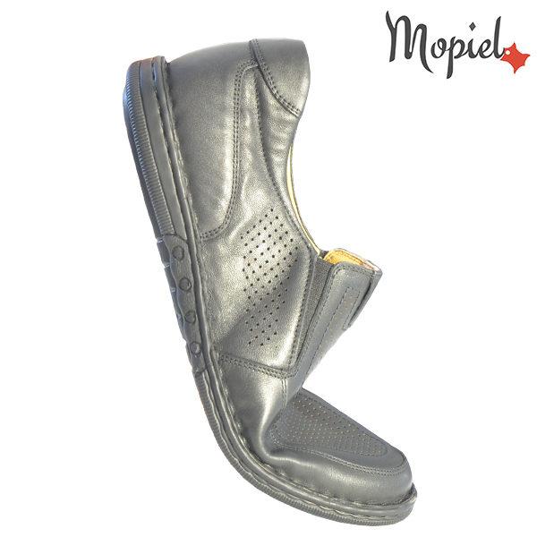 Pantofi barbati, din piele naturala 1311104 Negru Amza incaltaminte toamna