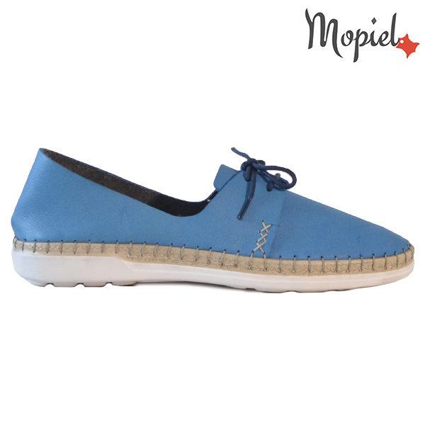 Pantofi dama din piele naturala 23811 Albastru Cindya