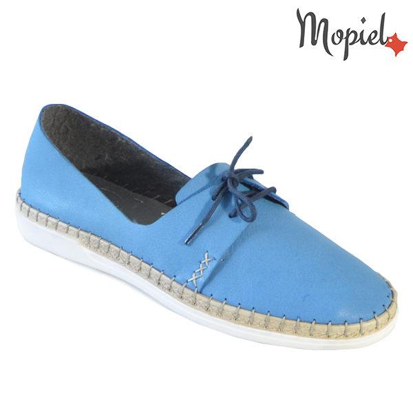 Pantofi dama din piele naturala 23811 Albastru Cindya incaltaminte dama