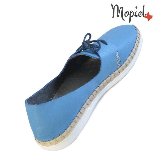 Pantofi dama din piele naturala 23811 Albastru Cindya incaltaminte piele