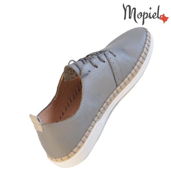 Pantofi dama din piele naturala 23811 Gri Cindya incaltaminte piele