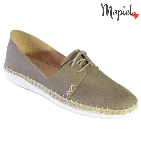 Pantofi dama din piele naturala 23811 Gri-Topolino Cindya incaltaminte dama