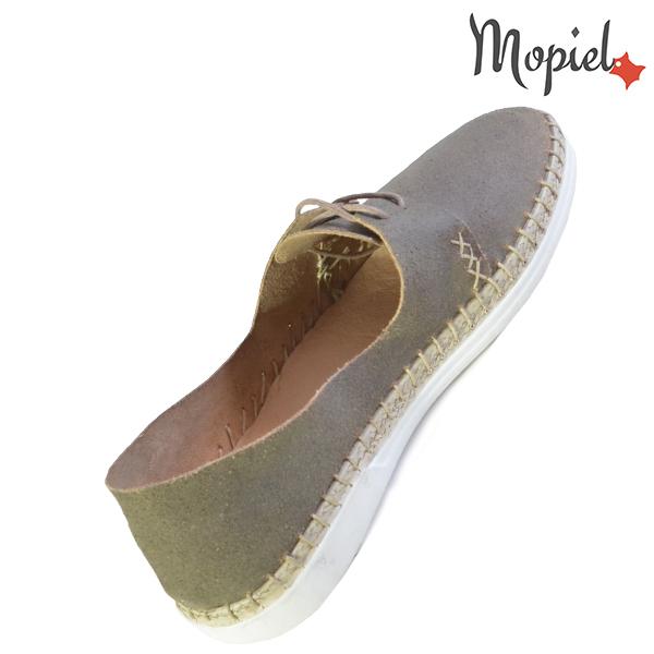 Pantofi dama din piele naturala 23811 Gri-Topolino Cindya incaltaminte ieftina