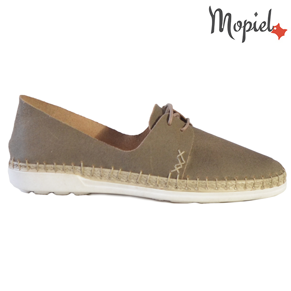 Pantofi dama din piele naturala 23811 Gri-Topolino Cindya