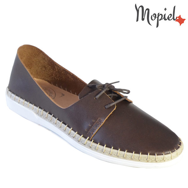 Pantofi dama din piele naturala 23811 Maro Cindya incaltaminte dama