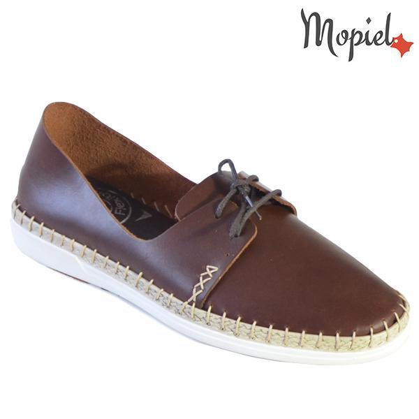 Pantofi dama din piele naturala 23811 Maro-Roscat Cindya incaltaminte dama