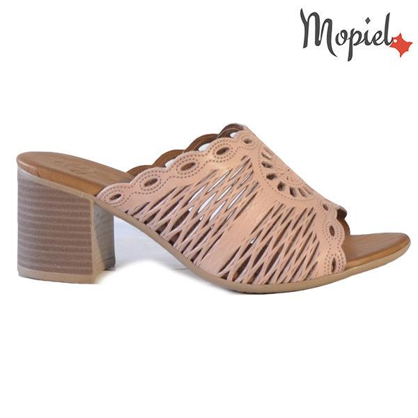 Papuci dama, din piele naturala 261104 Roz Lucia