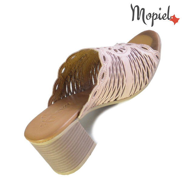 Papuci dama, din piele naturala 261104 Roz Lucia incaltaminte piele