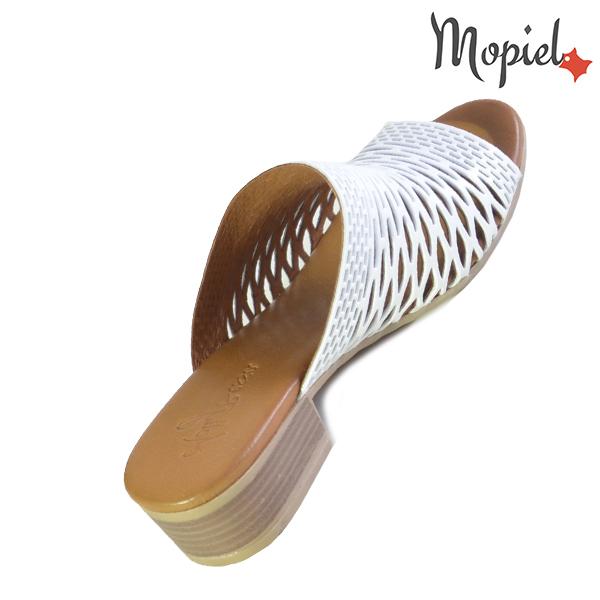 Papuci dama, din piele naturala 261105 Alb Otilia incaltaminte piele
