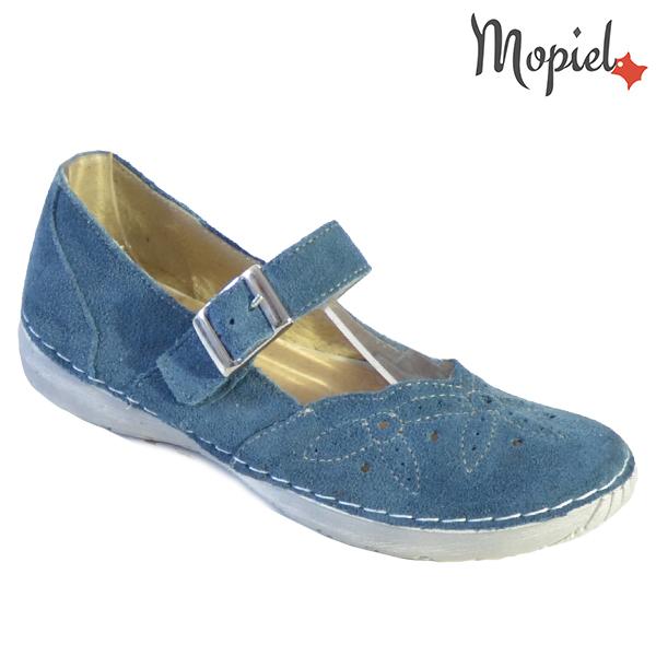 Sandale dama din piele naturala 23510 Blue Carla incaltaminte dama