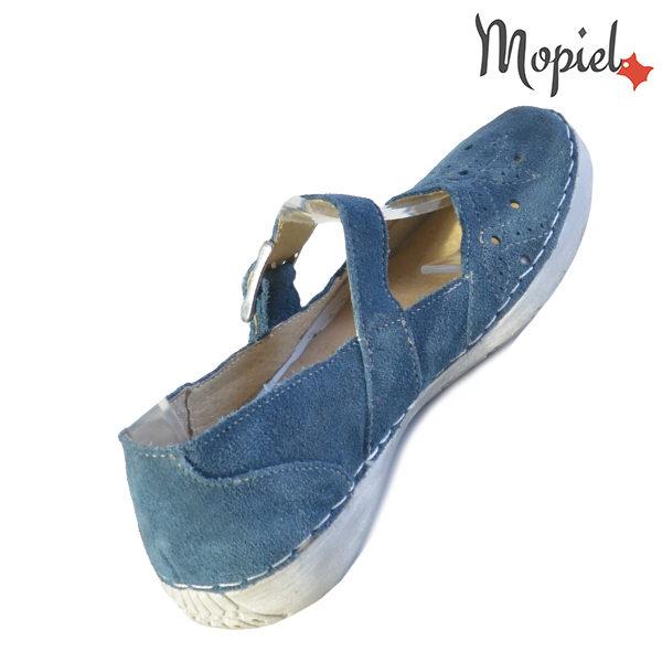 Sandale dama din piele naturala 23510 Blue Carla incaltaminte ieftina