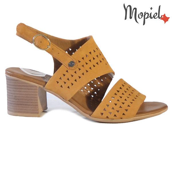 Sandale dama din piele naturala 251110 Mustar Renata