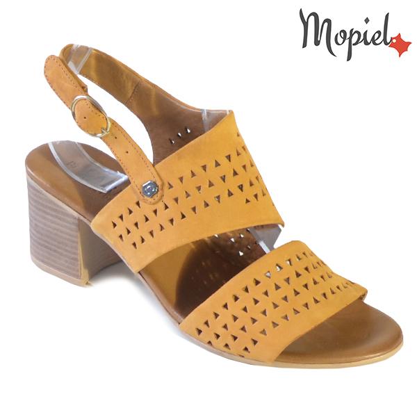 Sandale dama din piele naturala 251110 Mustar Renata incaltaminte dama