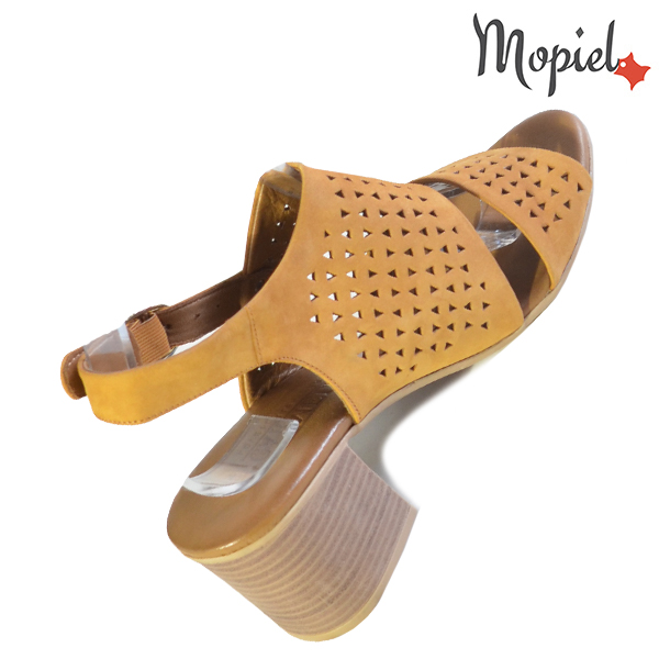 Sandale dama din piele naturala 251110 Mustar Renata incaltaminte fashion