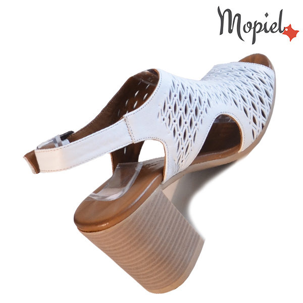 Sandale dama din piele naturala 251112 Alb Selina incaltaminte ieftina