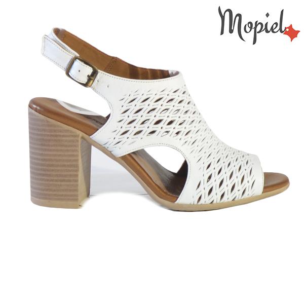 Sandale dama din piele naturala 251112 Alb Selina