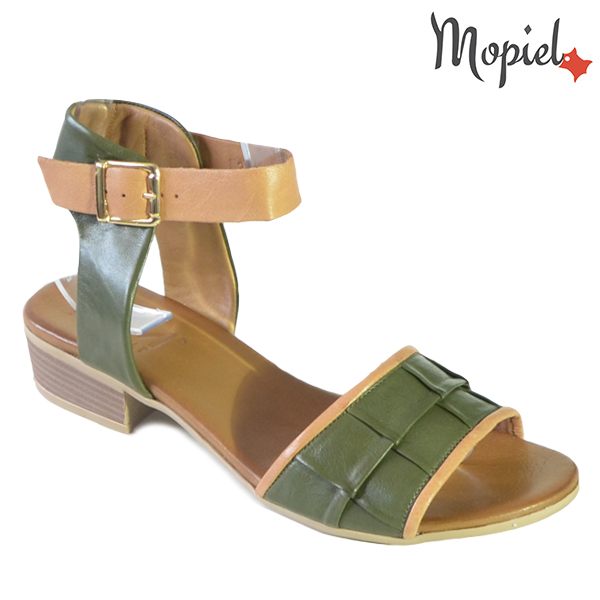 Sandale dama din piele naturala 251113 Verde Chira incaltaminte dama
