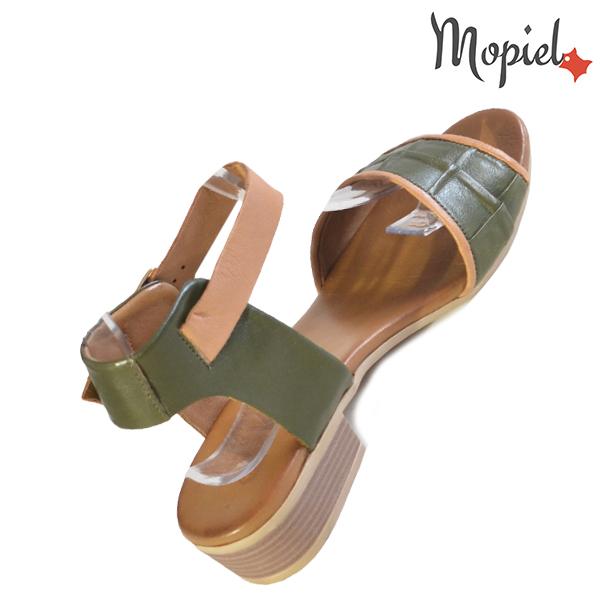 Sandale dama din piele naturala 251113 Verde Chira incaltaminte piele