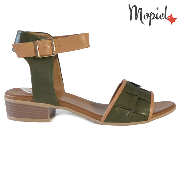 Sandale dama din piele naturala 251113 Verde Chira