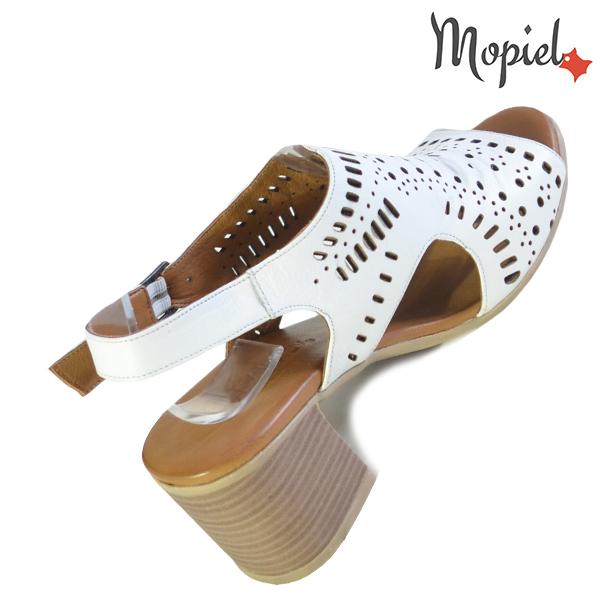Sandale dama din piele naturala 251114 Alb Linda incaltaminte ieftina