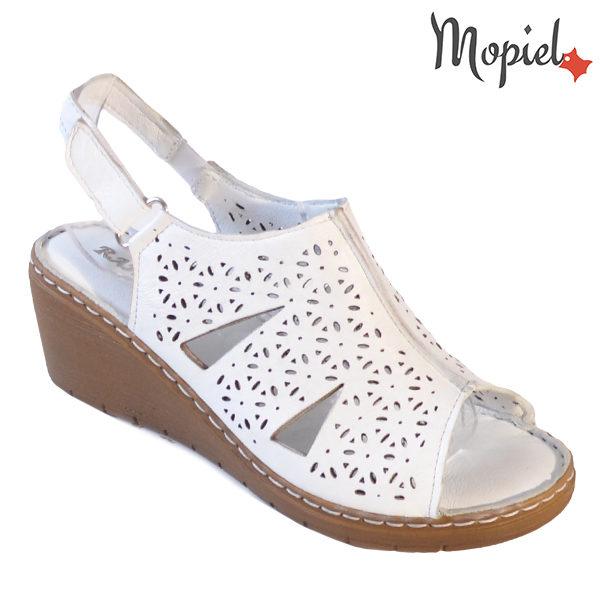 Sandale dama din piele naturala 251118 Alb Dalia incaltaminte dama