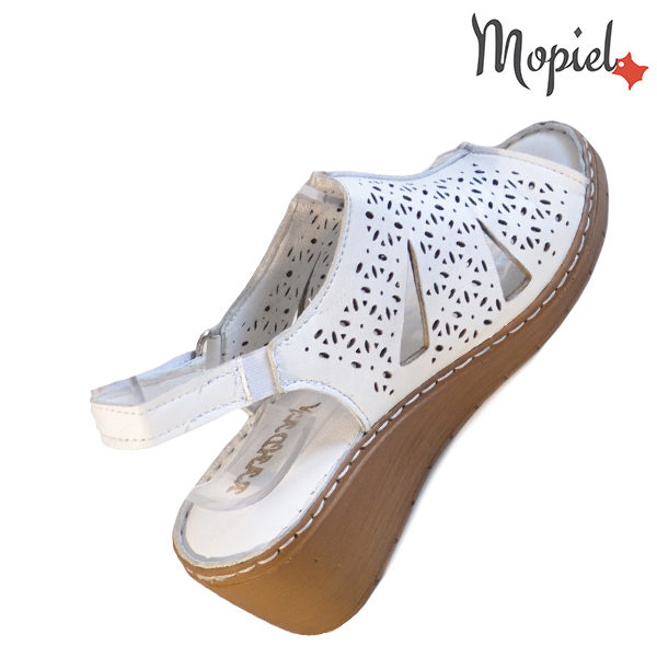 Sandale dama din piele naturala 251118 Alb Dalia incaltaminte fashion