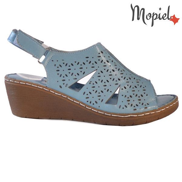Sandale dama din piele naturala 251118 Albastru Dalia