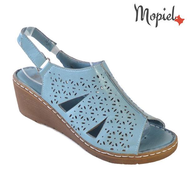 Sandale dama din piele naturala 251118 Albastru Dalia incaltaminte dama