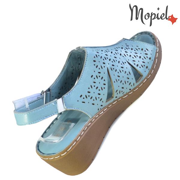 Sandale dama din piele naturala 251118 Albastru Dalia incaltaminte online