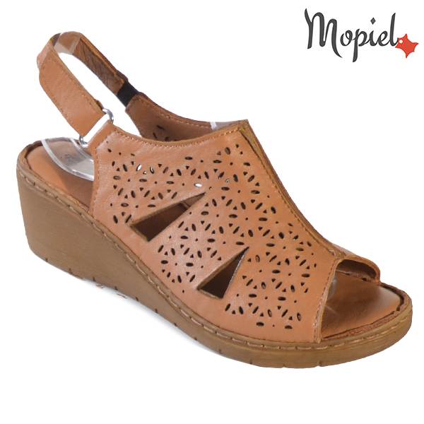 Sandale dama din piele naturala 251118 Maro Dalia incaltaminte ieftina