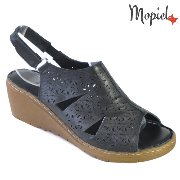 Sandale dama din piele naturala 251118 Negru Dalia incaltaminte dama