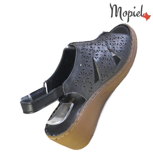 Sandale dama din piele naturala 251118 Negru Dalia incaltaminte ieftina