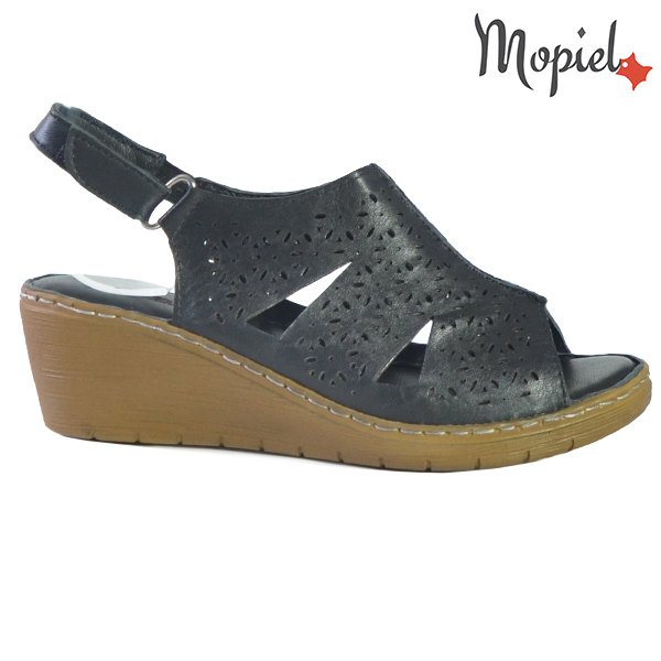 Sandale dama din piele naturala 251118 Negru Dalia