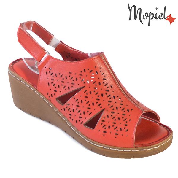 Sandale dama din piele naturala 251118 Rosu Dalia incaltaminte ieftina
