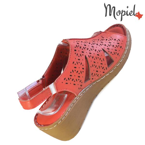 Sandale dama din piele naturala 251118 Rosu Dalia reduceri incaltaminte