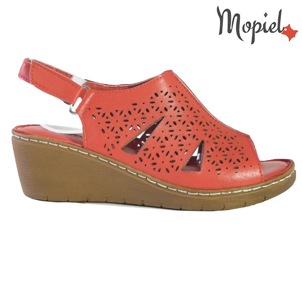 Sandale dama din piele naturala 251118 Rosu Dalia