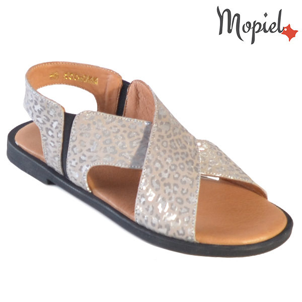 Sandale dama din piele naturala 251119 Argintiu Sanda incaltaminte dama