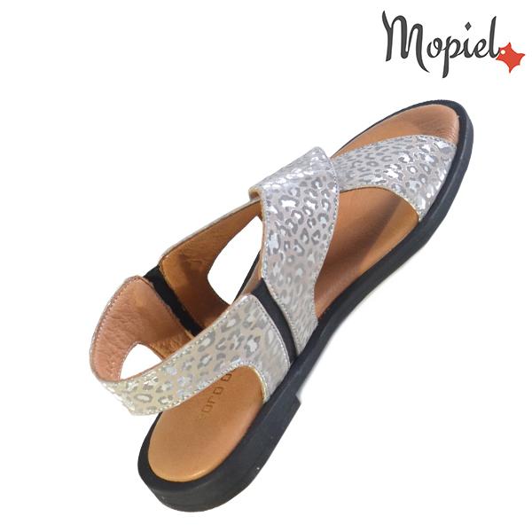 Sandale dama din piele naturala 251119 Argintiu Sanda incaltaminte ieftina