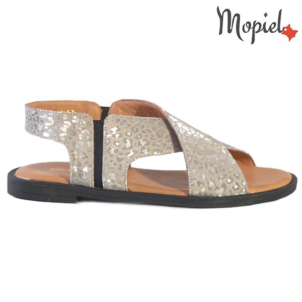 Sandale dama din piele naturala 251119 Argintiu Sanda