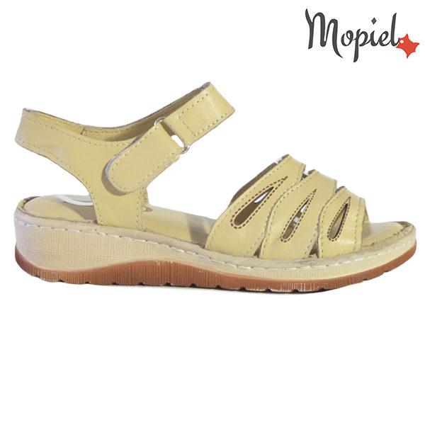 Sandale dama din piele naturala 251120 Bej Tania
