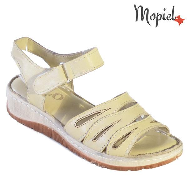 Sandale dama din piele naturala 251120 Bej Tania incaltaminte dama