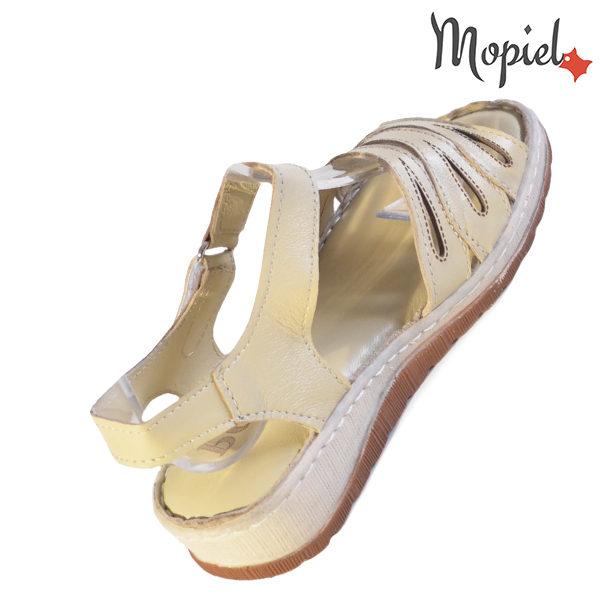 Sandale dama din piele naturala 251120 Bej Tania incaltaminte piele