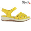 Sandale dama din piele naturala 251120 Galben Tania