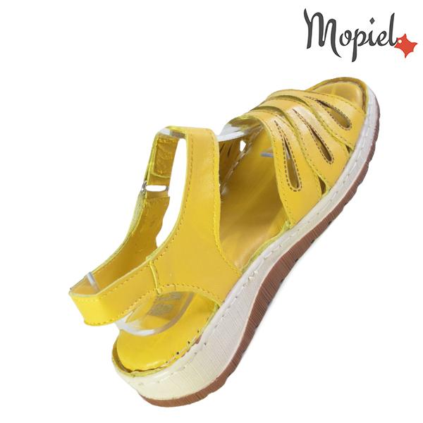 Sandale dama din piele naturala 251120 Galben Tania incaltaminte piele
