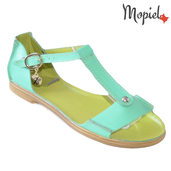 Sandale dama, din piele naturala 25206 Verde Sinem incaltaminte dama