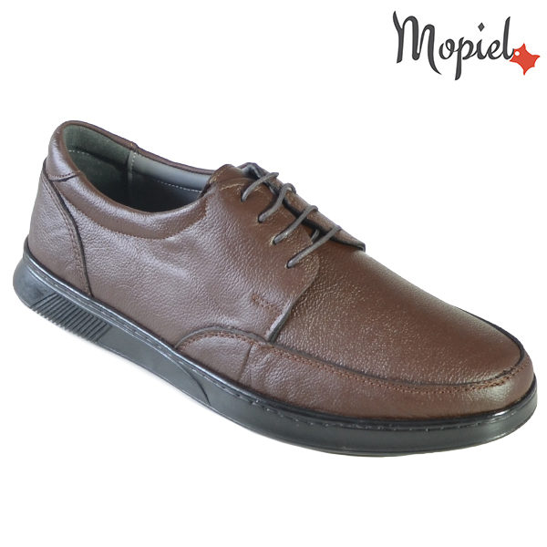 Pantofi barbati, din piele naturala 131112 Maro Addison incaltaminte barbati din piele
