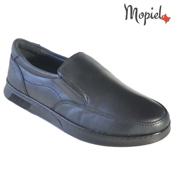 Pantofi barbati, din piele naturala 131113 Negru Bart