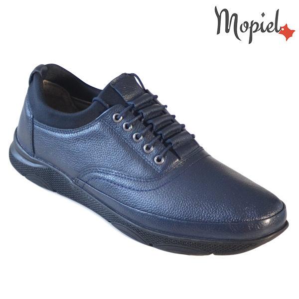 Pantofi barbati, din piele naturala 131116 Bleumarin-Bisonte Casian incaltaminte barbati